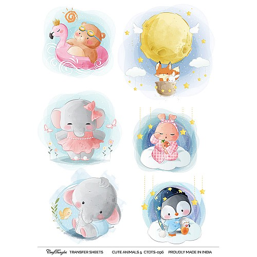 CrafTangles A4 Transfer It Sheets - Cute Animals 5