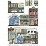 CrafTangles A4 Transfer It Sheets - Buildings