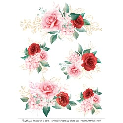 CrafTangles A4 Transfer It Sheets - Spring Flowers 14