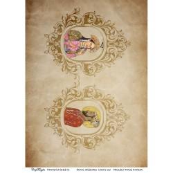CrafTangles A4 Transfer It Sheets - Royal Wedding