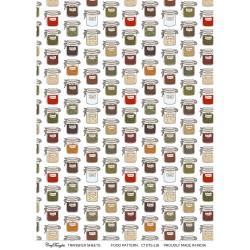CrafTangles A4 Transfer It Sheets - Food Pattern