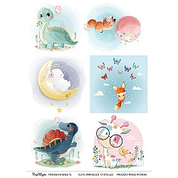 CrafTangles A4 Transfer It Sheets - Cute Animals 6