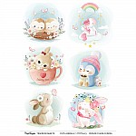 CrafTangles A4 Transfer It Sheets - Cute Animals 7