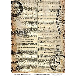 CrafTangles A4 Transfer It Sheets - Old Newspaper 1