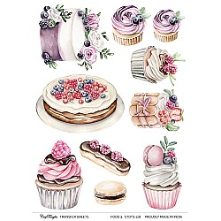 CrafTangles A4 Transfer It Sheets - Food 3