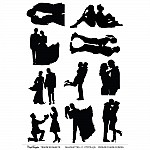 CrafTangles A4 Transfer It Sheets - Silhouettes - Couple