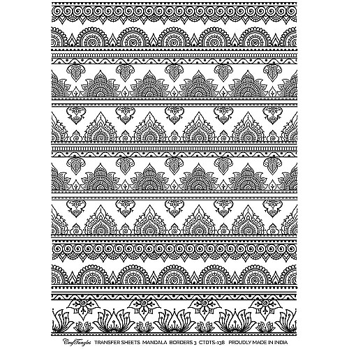 CrafTangles Transfer It Sheets - Mandala Borders 3