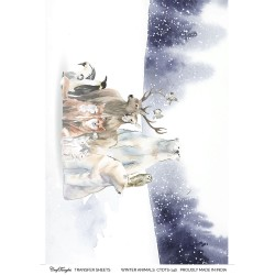 CrafTangles Transfer It Sheets - Winter Animals