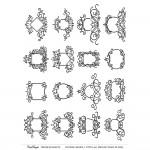 CrafTangles Transfer It Sheets - Vintage Frames 2
