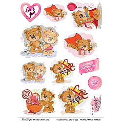 CrafTangles Transfer It Sheets - Teddy Love 2