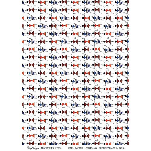 CrafTangles Transfer It Sheets - Warli Pattern
