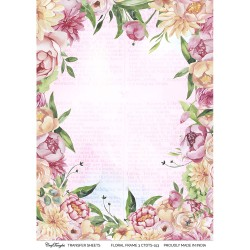 CrafTangles A4 Transfer It Sheets - Floral Frame 3