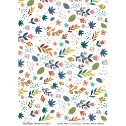 CrafTangles A4 Transfer It Sheets - Floral Print 4
