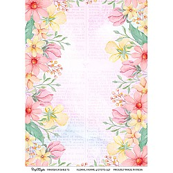 CrafTangles A4 Transfer It Sheets - Floral Frame 4