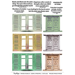 CrafTangles A4 Transfer It Sheets - Doors and Windows