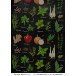 CrafTangles A4 Transfer It Sheets - Food Pattern 2