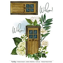 CrafTangles A4 Transfer It Sheets - Doors and Windows 2