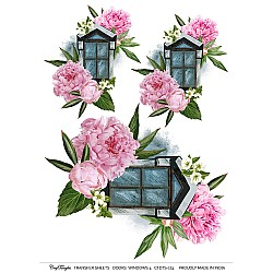 CrafTangles A4 Transfer It Sheets - Doors and Windows 4