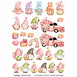 CrafTangles A4 Transfer It Sheets - Cute Gnomes