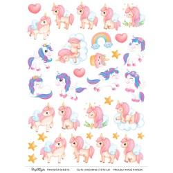 CrafTangles A4 Transfer It Sheets - Cute Unicorns