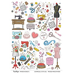 CrafTangles A4 Transfer It Sheets - Sewing Elements