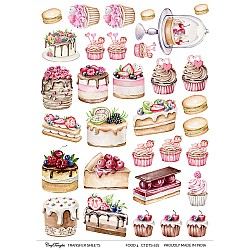CrafTangles A4 Transfer It Sheets - Food 4