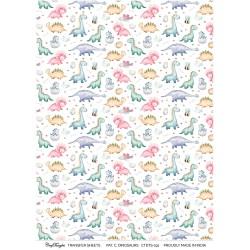 CrafTangles A4 Transfer It Sheets - Pattern Cute Dinosaurs