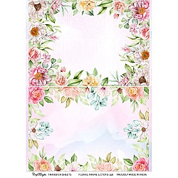CrafTangles A4 Transfer It Sheets - Floral Frame 5