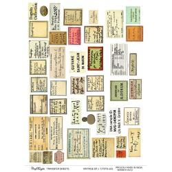CrafTangles A4 Transfer It Sheets - Vintage Ephemeras 1