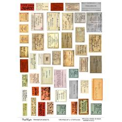 CrafTangles A4 Transfer It Sheets - Vintage Ephemeras 2