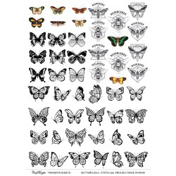 CrafTangles A4 Transfer It Sheets - Butterflies 2