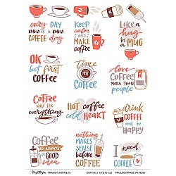 CrafTangles A4 Transfer It Sheets - Coffee 2