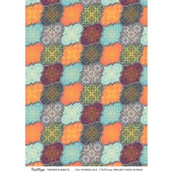 CrafTangles A4 Transfer It Sheets - Colorful Mandalas 6