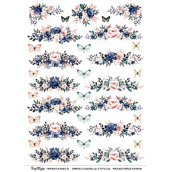 CrafTangles A4 Transfer It Sheets - Spring Flowers 23