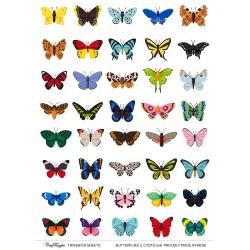 CrafTangles A4 Transfer It Sheets - Butterflies 3