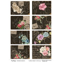 CrafTangles A4 Transfer It Sheets - Floral Frenzy