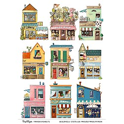 CrafTangles A4 Transfer It Sheets - Buildings 2