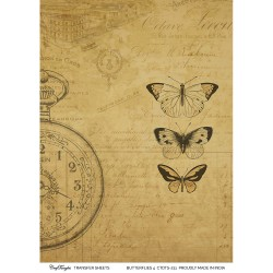 CrafTangles A4 Transfer It Sheets - Butterflies 4