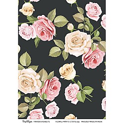 CrafTangles A4 Transfer It Sheets - Floral Print 6