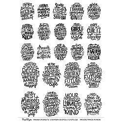 CrafTangles A4 Transfer It Sheets - Quotes - Everyday Quotes 2