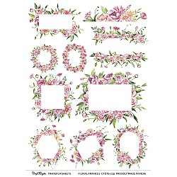 CrafTangles A4 Transfer It Sheets - Floral Frames 1