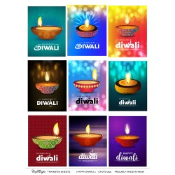 CrafTangles A4 Transfer It Sheets - Happy Diwali 1