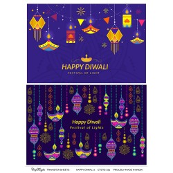 CrafTangles A4 Transfer It Sheets - Happy Diwali 2