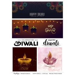 CrafTangles A4 Transfer It Sheets - Happy Diwali 3