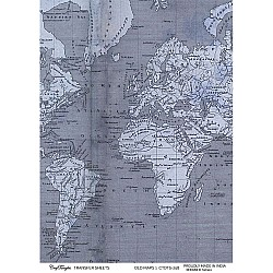 CrafTangles A4 Transfer It Sheets - Old Maps 1
