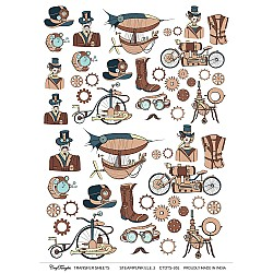 CrafTangles A4 Transfer It Sheets - Steampunk Elements 2