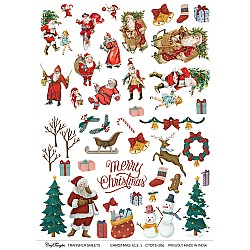 CrafTangles A4 Transfer It Sheets - Christmas Elements 1