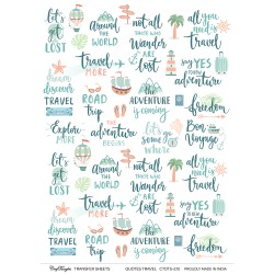 CrafTangles A4 Transfer It Sheets - Quotes - Travel