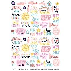 CrafTangles A4 Transfer It Sheets - Quotes - Positive Thoughts