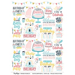 CrafTangles A4 Transfer It Sheets - Quotes - Birthday 2